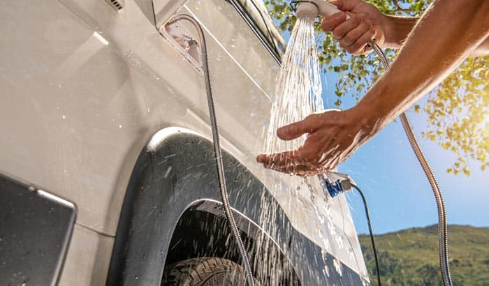 how to make a shower for camping