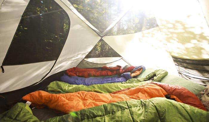 make a sleeping bag warmer