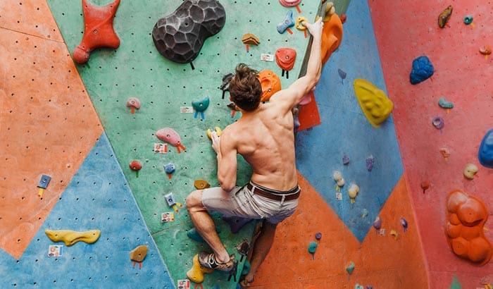what muscles are used in rock climbing