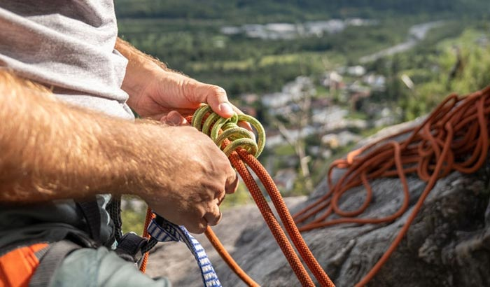 what to do with old climbing rope