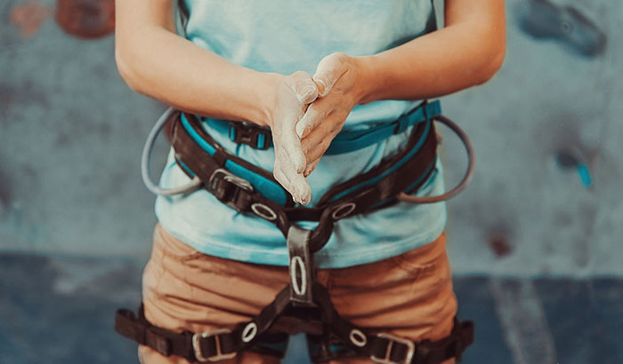 how to fit a climbing harness